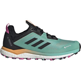 adidas TERREX Agravic Flow GTX Trail Running Shoes Women, acid mint/core black/screaming pink
